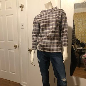 ANN TAYLOR GORGEOUS OFF THE COLLAR BLOUSE